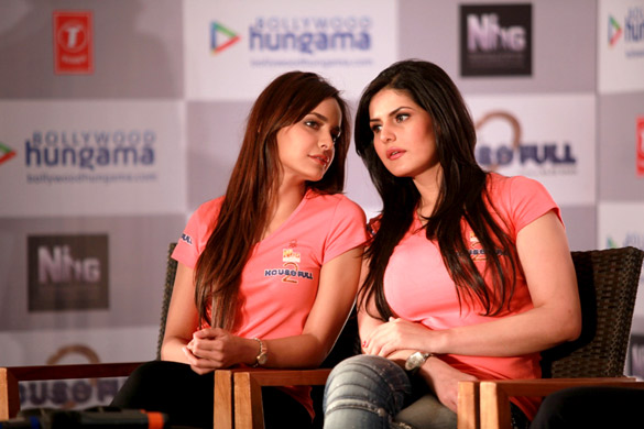 Shazahn and Zarine Khan Hot big boobs breast cute - Housefull 2 Game Launch Event Pics