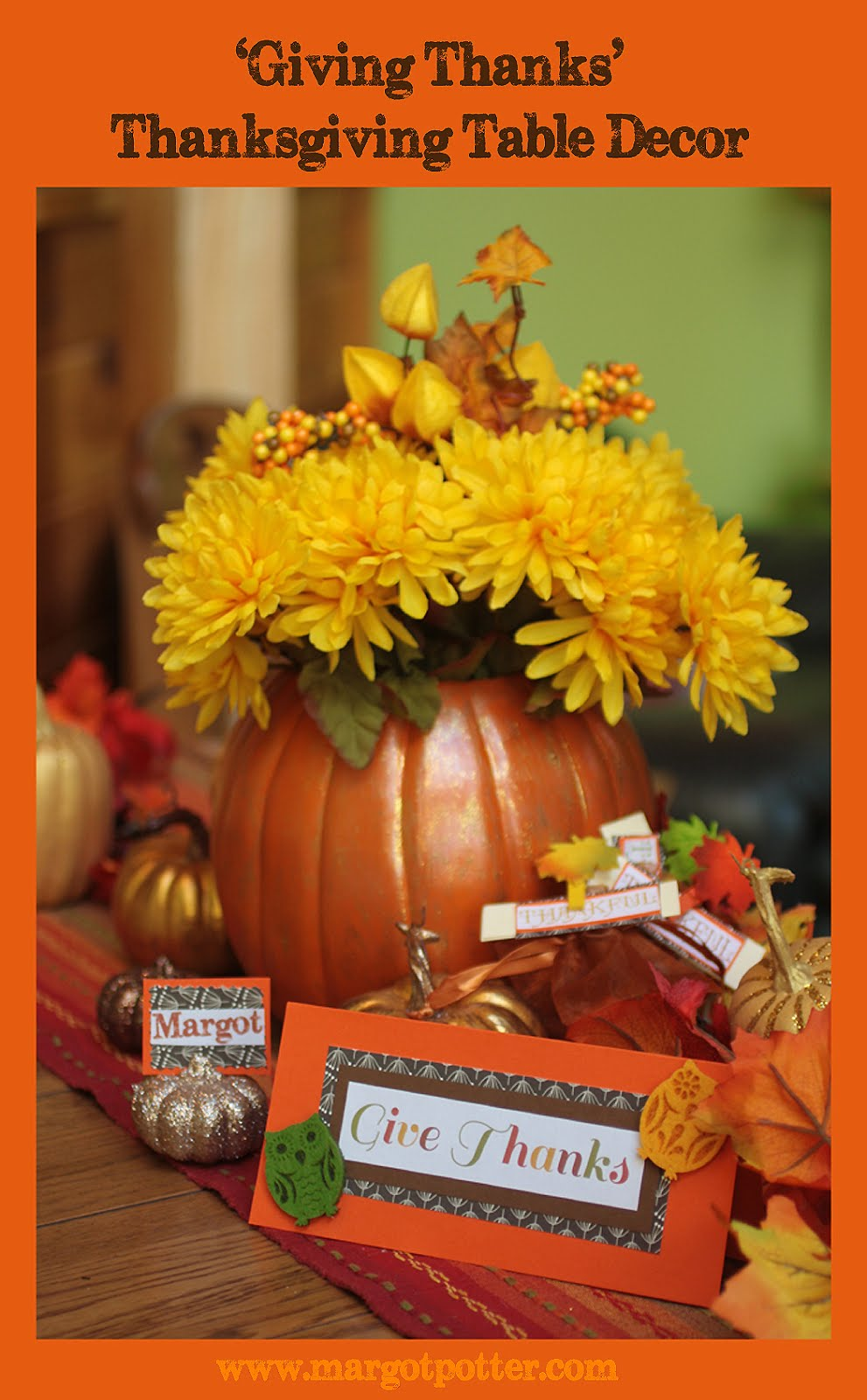 Ilovetocreate blog giving thanks diy thanksgiving table decor Thanksgiving table decorations homemade