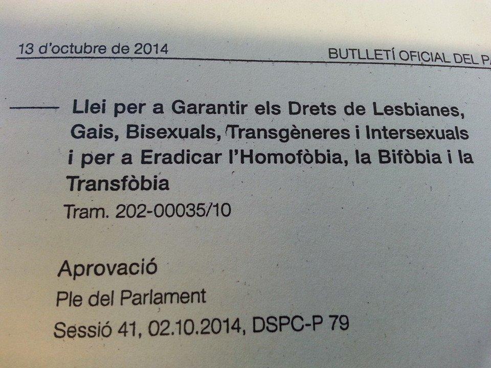LLEI CONTRA LA LGTBIfòbia