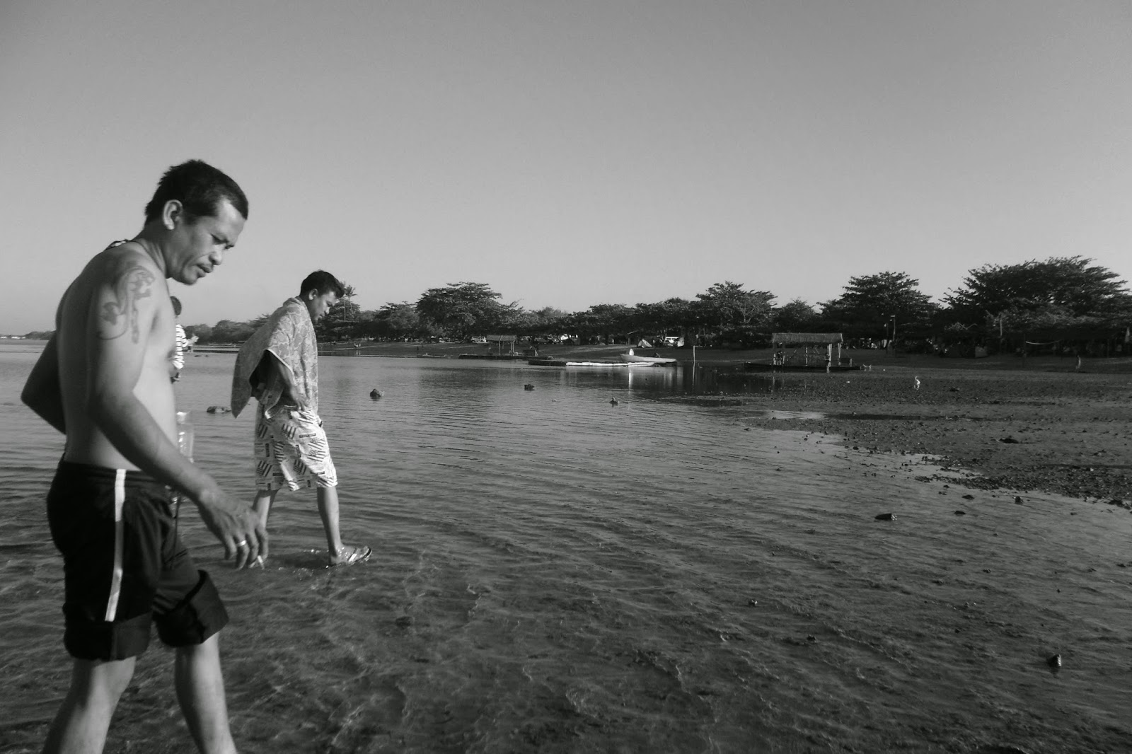 super low tide in Batangas