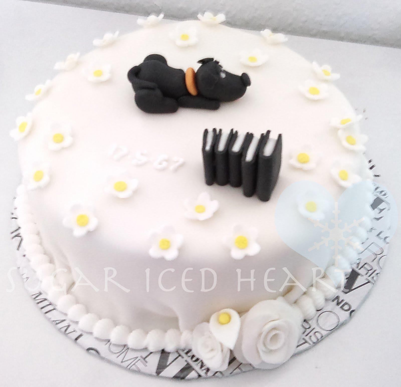 Sugar Iced Heart 24th Birthday Cakes