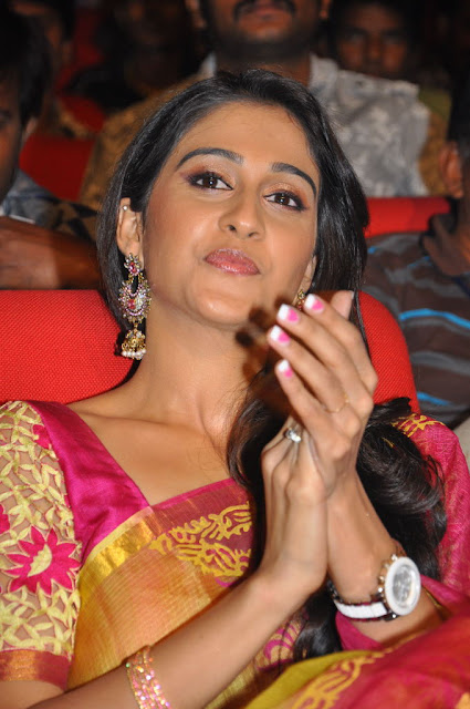 Actress Regina Saree Photos at Sms Movie Audio Launch