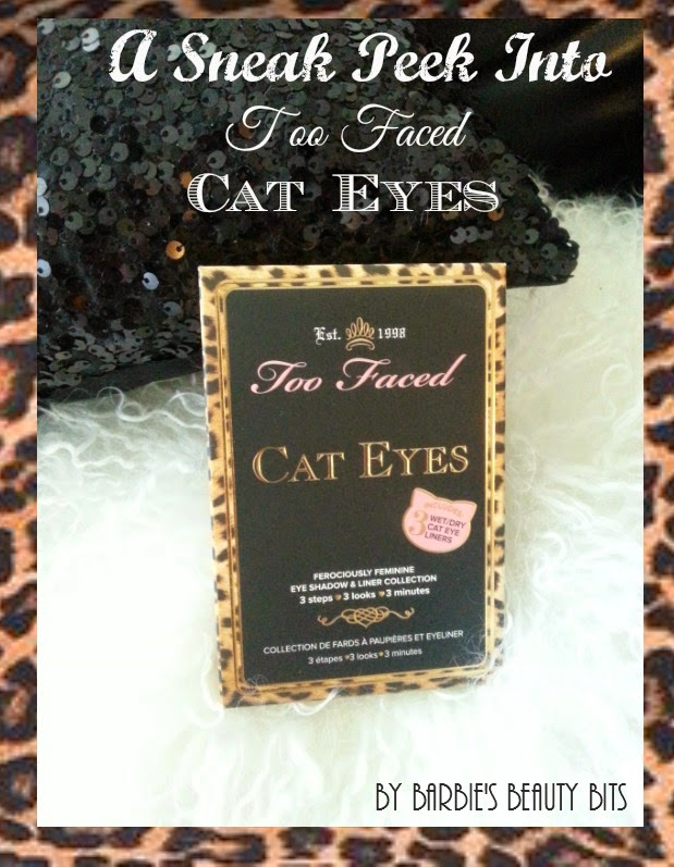 A Sneak Peek Look At Too Faced, Cat Eyes Palette, By Barbie's Beauty Bits.
