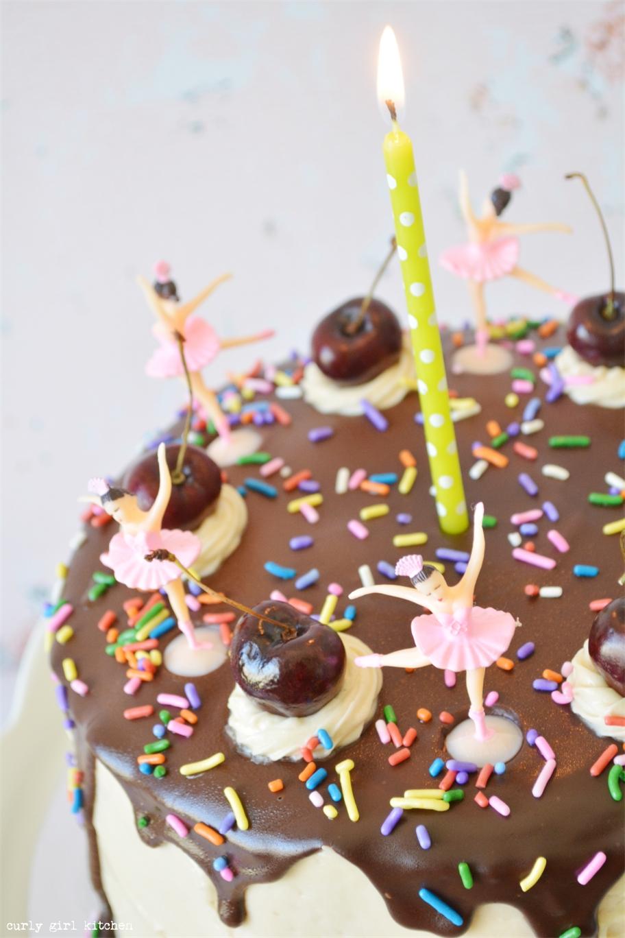 Curly Girl Kitchen Banana Split Birthday Cake With Dancing Ballerinas