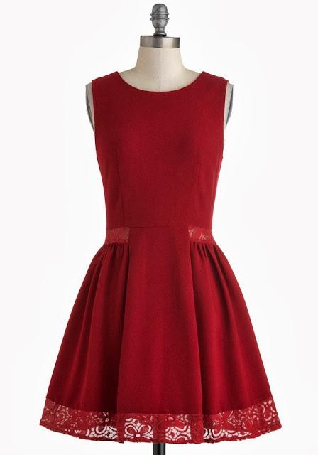 Modcloth, Modcloth.com, Cheery Maraschino Dress, wine color dress, burgundy, elegant dress, plum, lace inserts, Myrtlewood