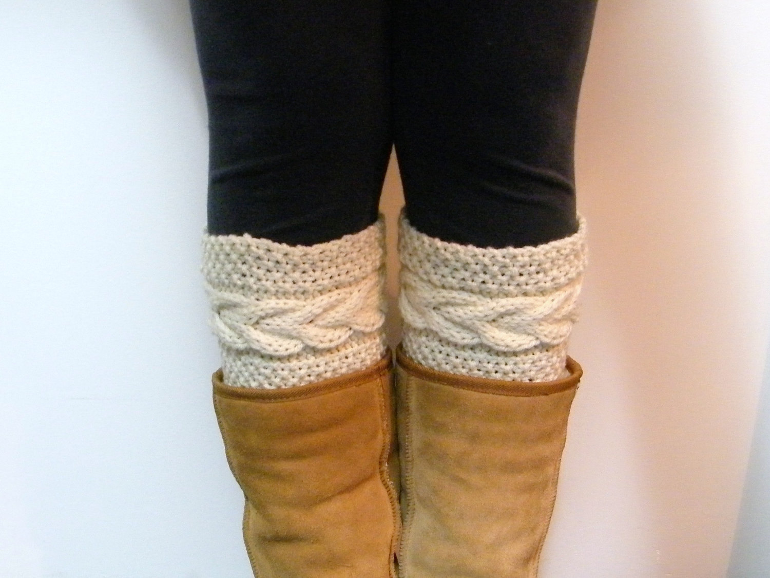 Free Knitting Pattern For Boot Cuffs : Lewis Knits: Grace Cable Boot Cuffs