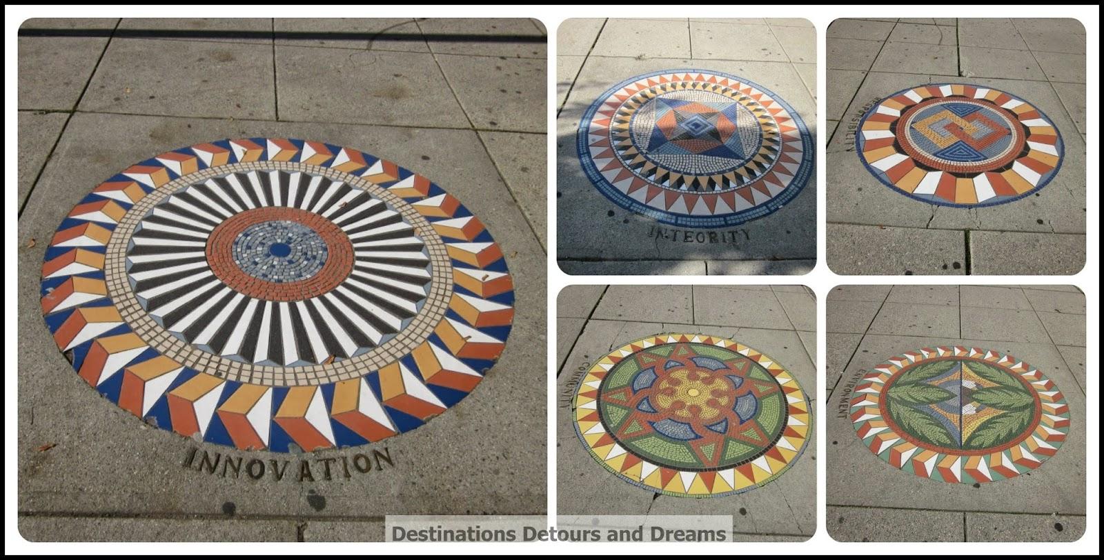 Sidewalk mosaics