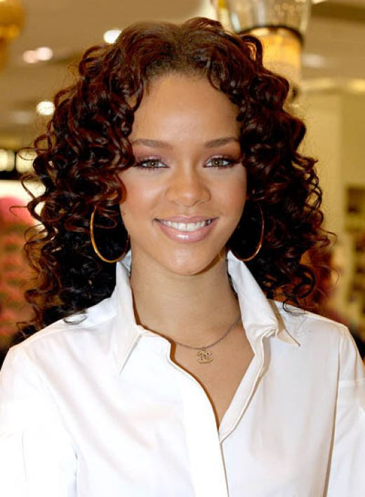 The Excellent Rihanna Short Curly Hairstyles Digital Imagery