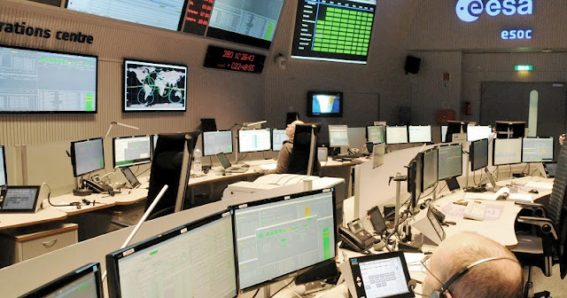 The LISA Pathfinder Flight Control Team began training intensively in June 2015 for the launch and early orbit phase, commissioning and routine mission phases after several years of developing the ground segment. This image shows the team in a simulation training session in the Main Control Room at ESA's ESOC space operations centre, Darmstadt, Germany, 7 October 2015. Credit: ESA - CC BY-SA 3.0 IGO