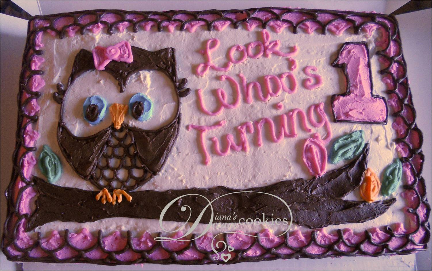 Diana\'s Dream Sweets: Owl Birthday Cake and Cupcakes with Sugar ...