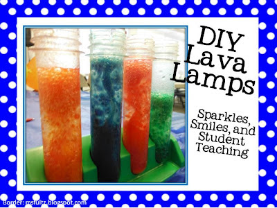 DIY lava lamps, science, teacher, school, chemistry