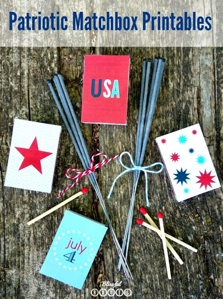 Printable Patriotic Matchbox Covers