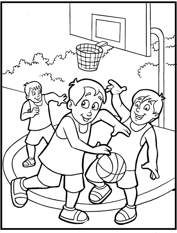 Free Coloring Pages Sports title=
