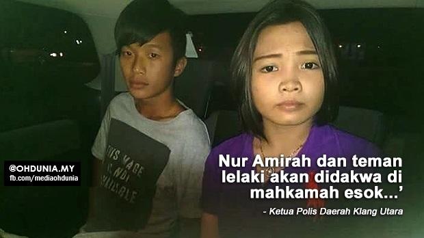 Nur Amirah dan Teman Lelaki Akan Didakwa di Mahkamah Esok