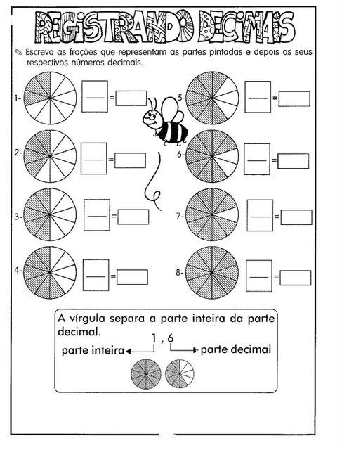 Conhecido Blog Professor Zezinho : Atividades sobre frações para 5° ano GN59