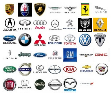 Car Logos And Their Brand Names >> World Of Cars: car brands