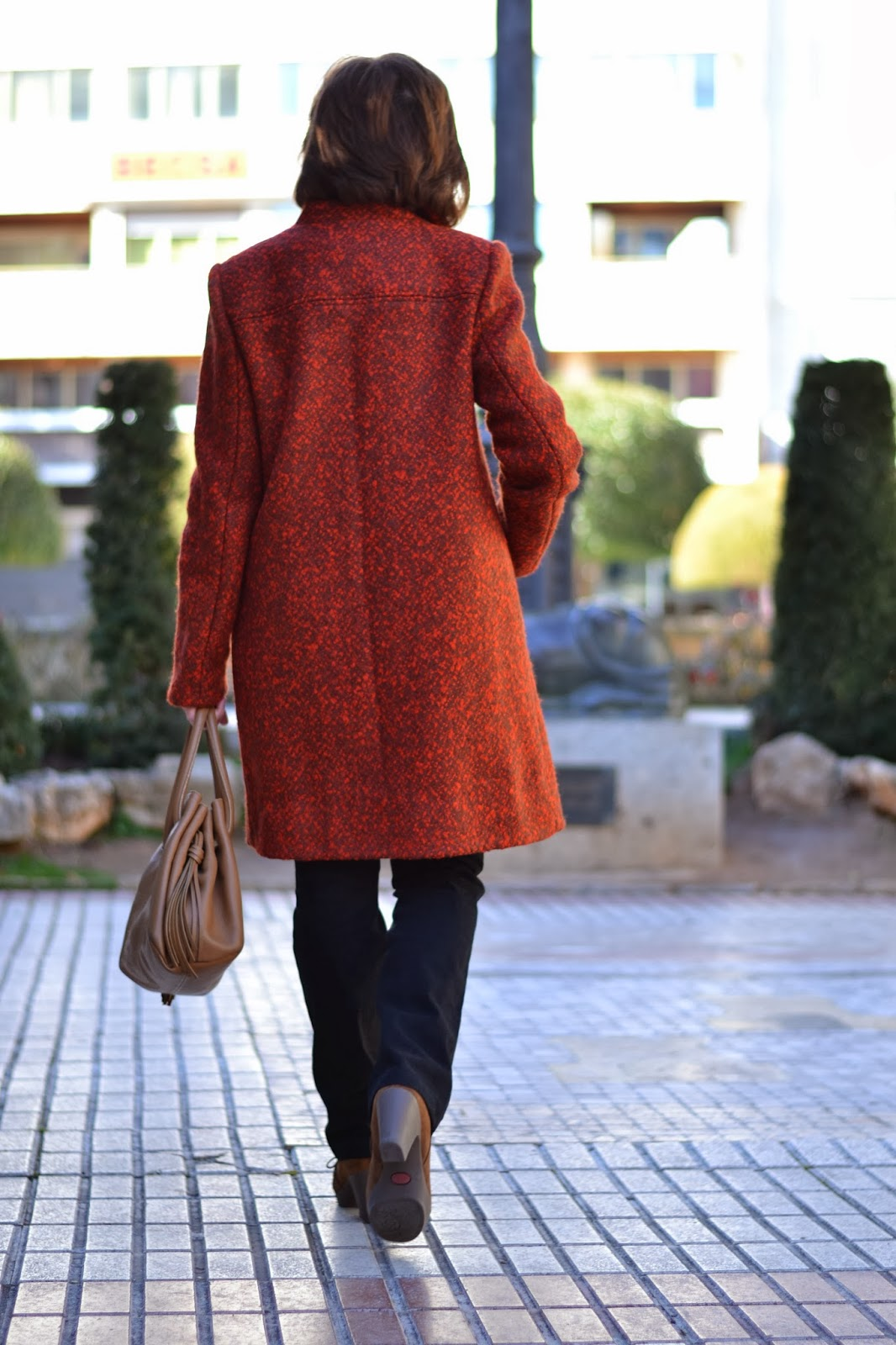 Coat, orange, brown, rust, Burdastyle, burdastyle 103 08/13, collar, pocket
