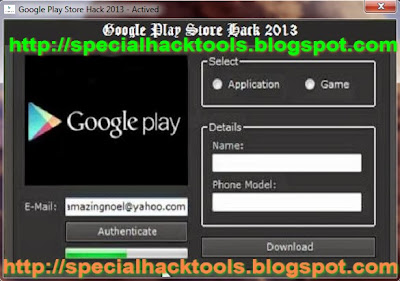 Google Play Store Hack 2013