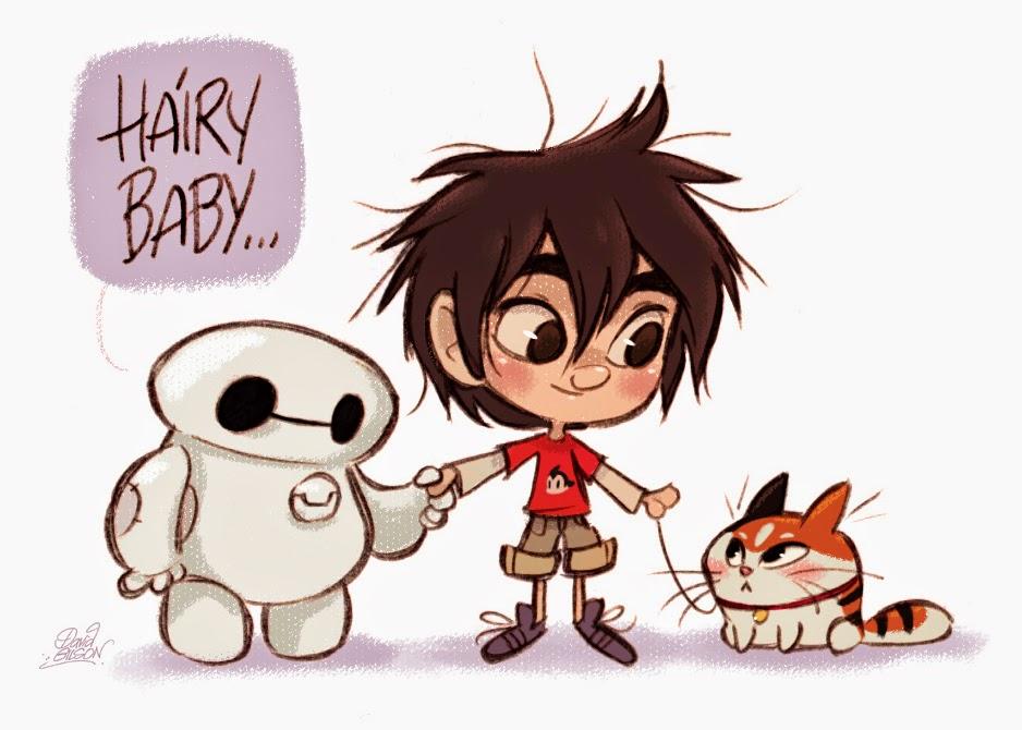 Big Hero 6 Anime Characters : David gilson chibi baymax hiro kiddo hairy baby from
