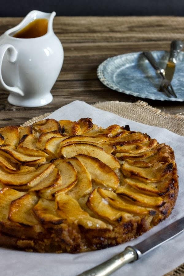 Tarta de manzana fácil con toffe