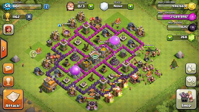 Barb Town Hall 7 Farming Base No King
