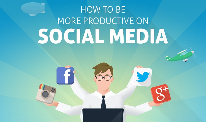 How to Be More Productive on #SocialMedia - #infographic