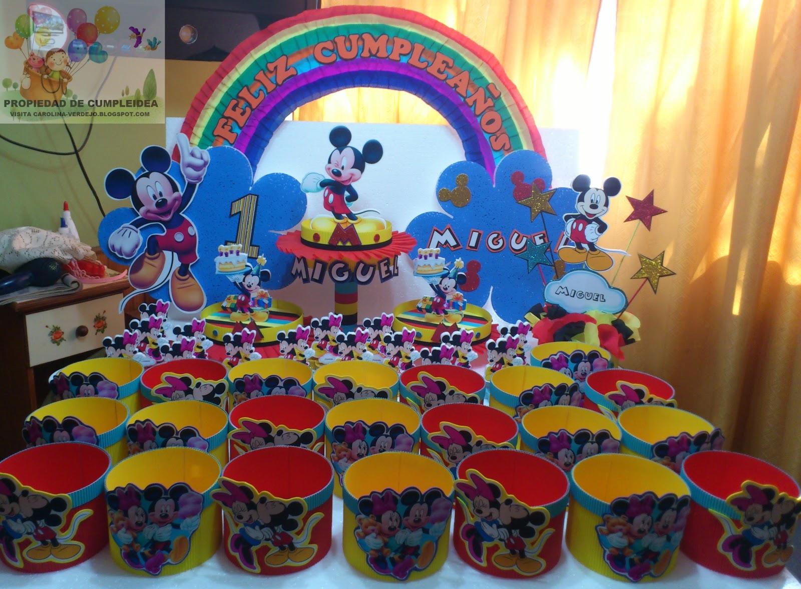 Decoraciones de mickey mouse decoraciones infantiles for Decoraciones para fiestas