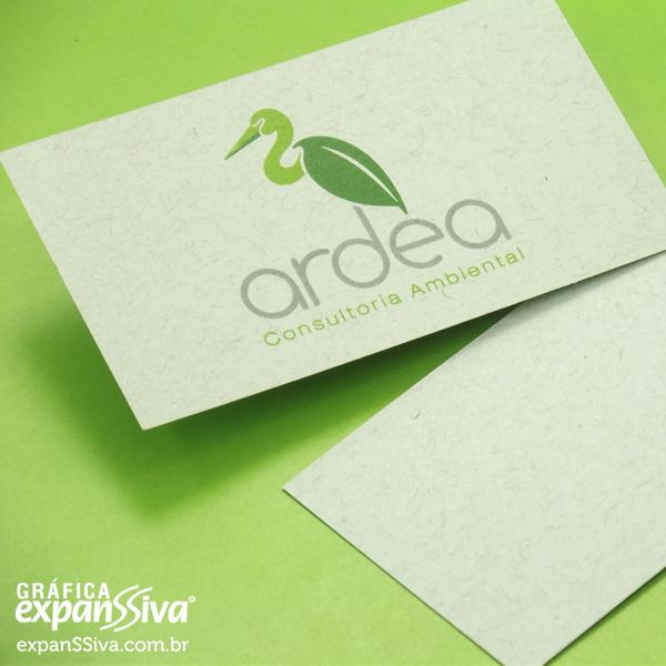 Cartão de Visita Sustentável em Papel Reciclado