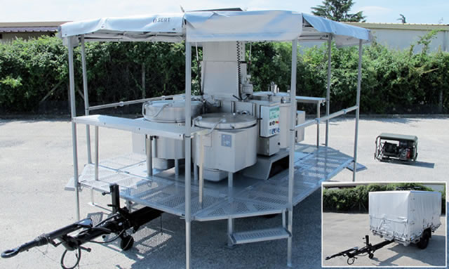 Military Containerized Kitchen Trailer