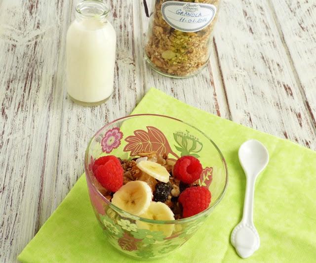 Desayuno a base de granola
