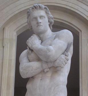 Estatua de Espartaco en el Museo del Louvre, por Denis Foyatier.