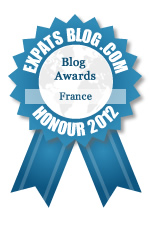 This blog won the Honourable Mention Award for best expat blog in France!