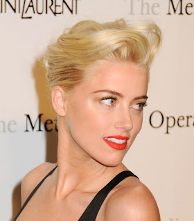 amber heard french twist updo short hairstyle