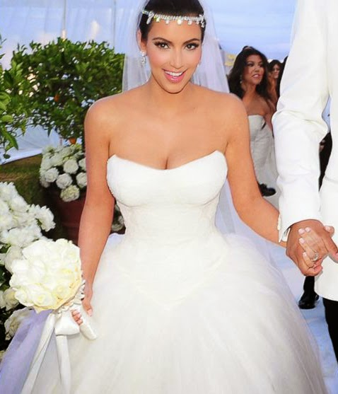 wedding dresses; celebrity wedding dresses; celebrity wedding gown; kim kardashion wedding dresses