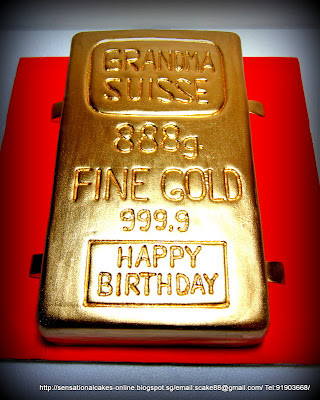 Singapore Escort Picture on Cake Inspiration Singapore  Solid Gold Ingot Cake Singapore For Ah Ma