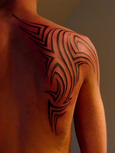 Tribal Shoulder Tattoos - 03