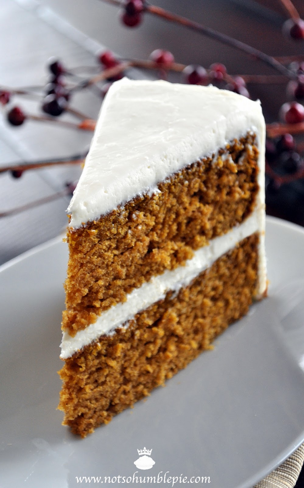 ... So Humble Pie: Pumpkin Spice Cake with Whipped Cream Cheese Frosting
