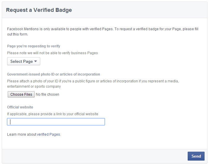 Link For Verify Facebook Page for Get Logo image photo