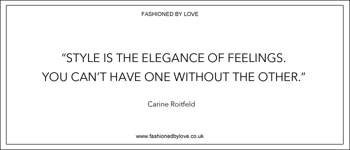 via fashioned by love | best fashion & style quotes | Carine Roitfeld