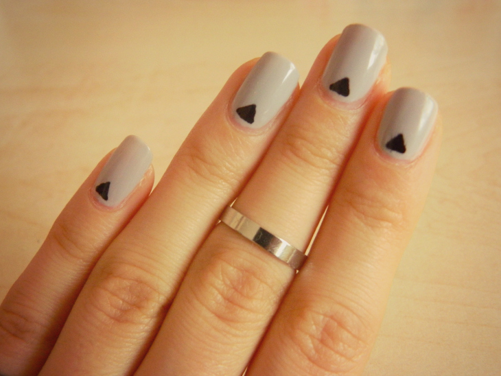 Love From Lisa Grey Triangle Nail Art