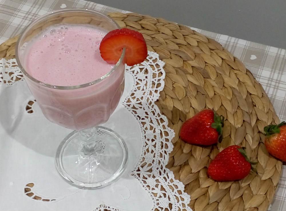 Presentación batido de fresa