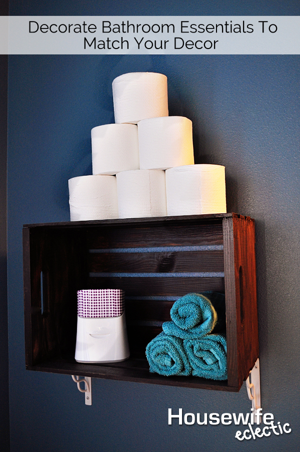 Decorate your care routine essentials to match your for Bathroom decor essentials