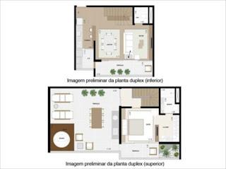 planta cobertura apartamento Deseo