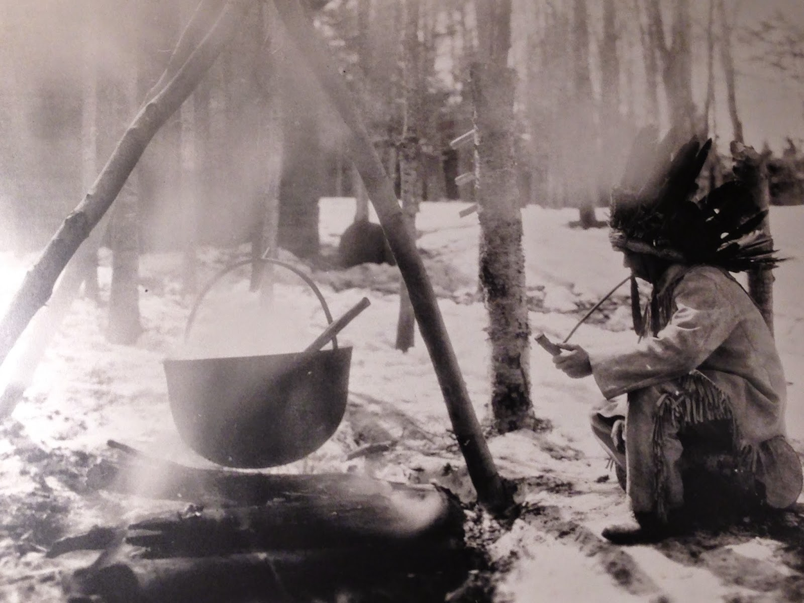 how to boil down maple sap on open fire