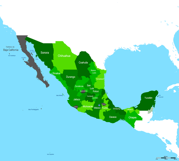 Old Map Mexico