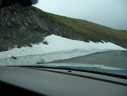 Snow at side of road