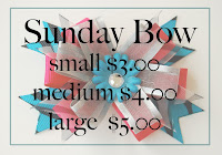 Sunday Bows