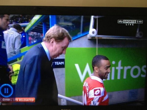 Harry Redknapp & José Bosingwa look 'disappointed' after QPR relegation