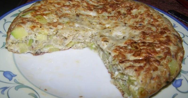 Dulce y salado tortilla de calabac n y cebolla - Tortilla de calabacin y cebolla ...