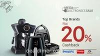 Appliances minimum 20% Cashback